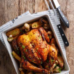Enfes: Fırında Kızarmış TavukEnfes: Fırında Kızarmış Tavuk